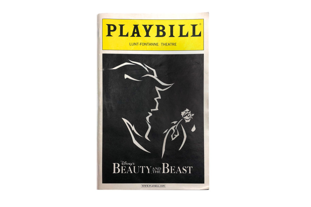 Fragment 0002 - Beauty and the Beast Playbill