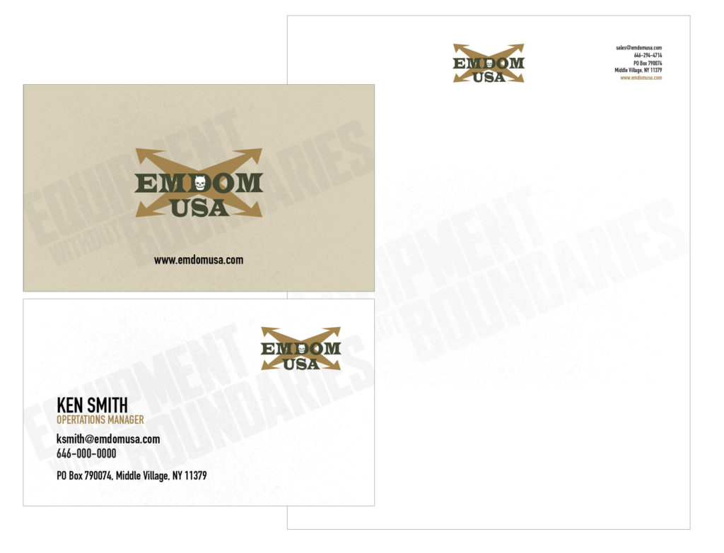 Emdom USA Business Card & Letterhead
